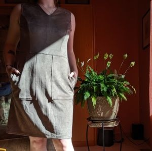 The Limited suede like dress with pockets